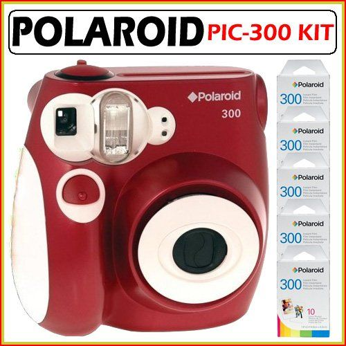 Polaroid PIC-300 Instant Camera in Red Accessory Kit $139.00