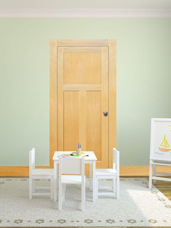 Maple 3 Panel Mission Flat Door By Mastercraft® · Prehung Interior ...