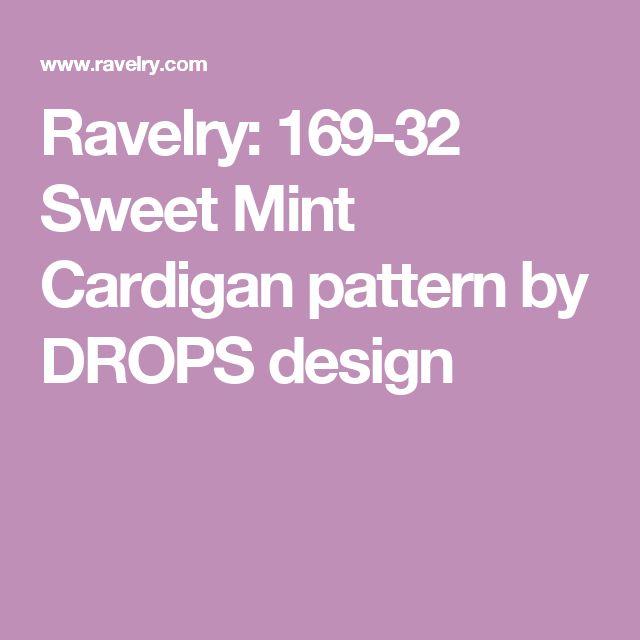 Ravelry: 169-32 Sweet Mint Cardigan pattern by DROPS design