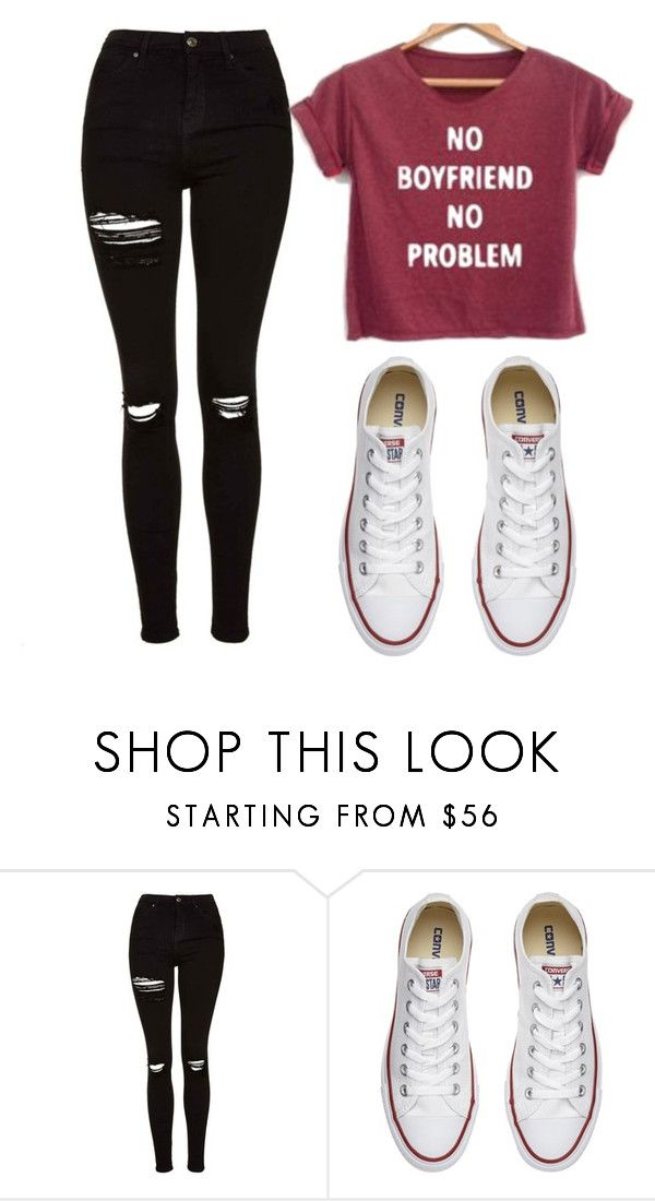 """Untitled #459"" by cuteskyiscute on Polyvore featuring Topshop and Converse"