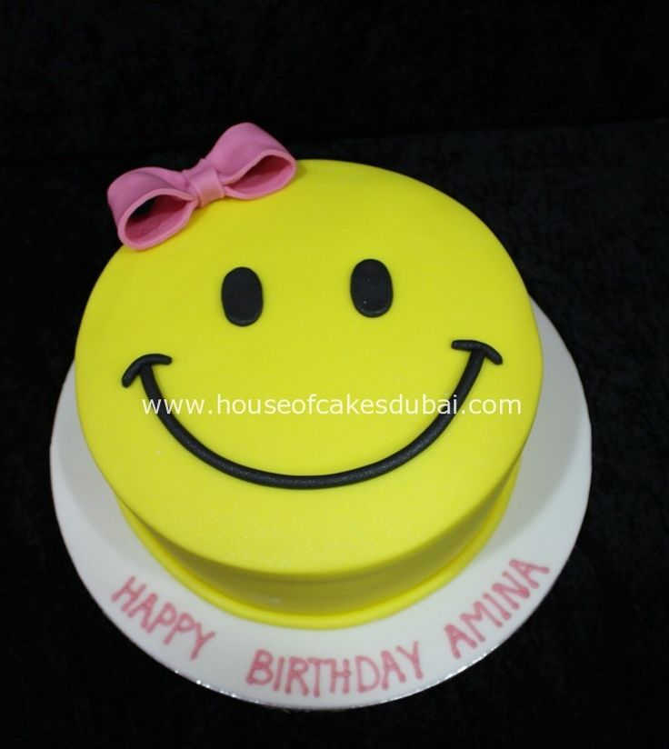 Girl smiley face cake