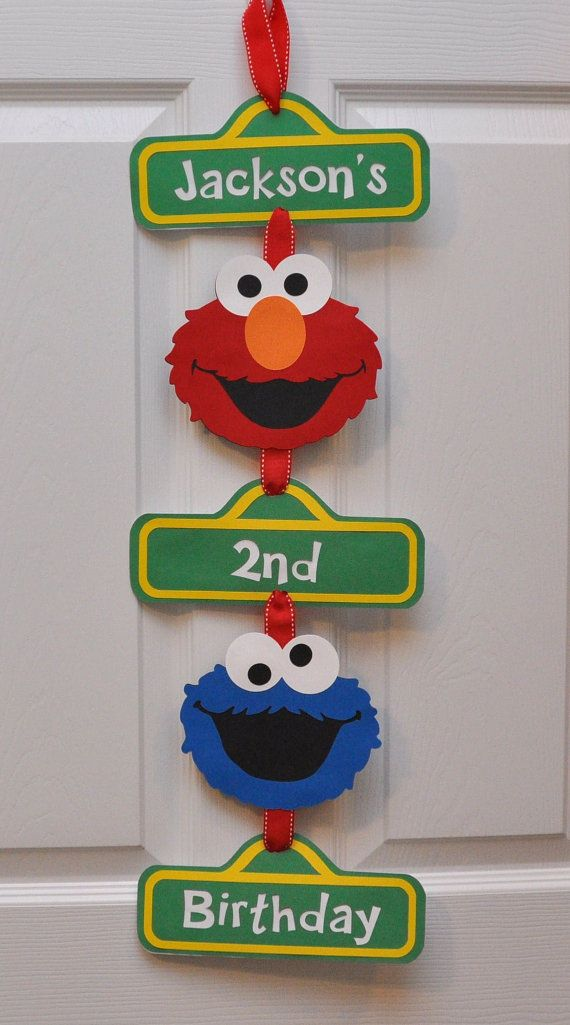 Sesame Street Birthday Party Door Sign by DesignsByDodi on Etsy, $18.00
