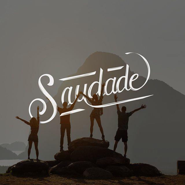 Saudade: Palabra que expresa añoranza hacia una persona, cosa o lugar -- Palavra que expressa um sentimento de lebrança de uma pessoa, coisa ou lugar. #lettering #typography #typographyinspire #design #design #portugues #saudade #brasil #type