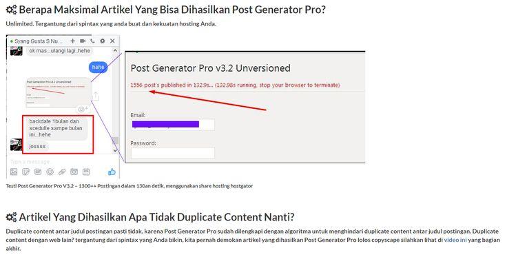 Cara Membuat Ribuan Artikel Unik Dalam Satu Klik Post Generator Pro