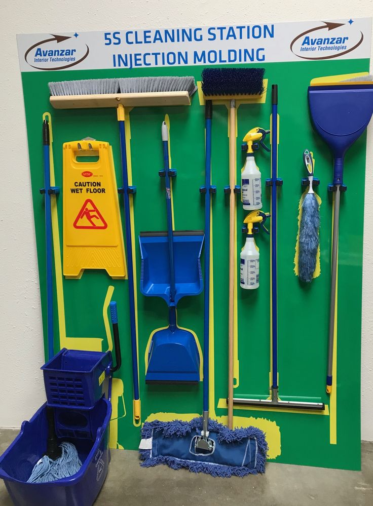 Cleaning Shadow Boards Visual management, Lean