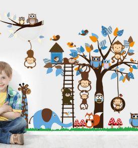 stickers murali per cameretta bambini,wall sticker per decorare. Necozio.com:  stickers murali per cameretta bambini, grafica, pittura, idee creative.