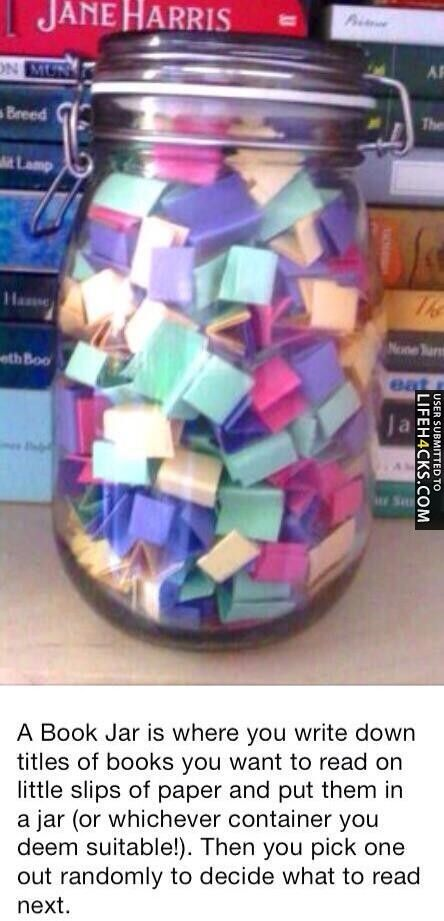 Book Jar - If you don't know what to read next.