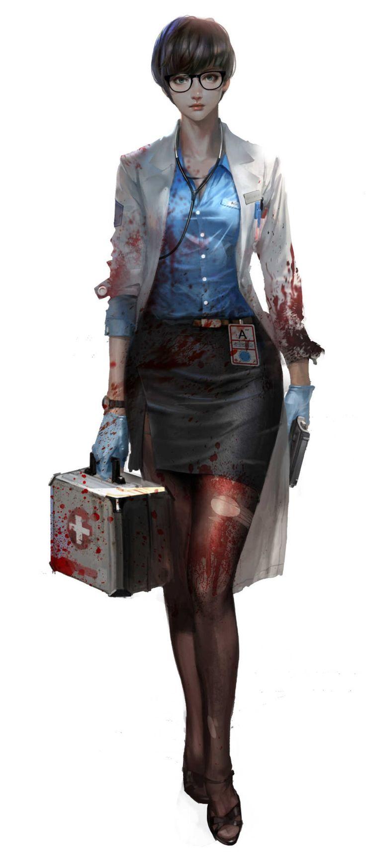 """Researcher"" | Kill Me Again : Infectors | #SciFi #Videogames #Zombies"