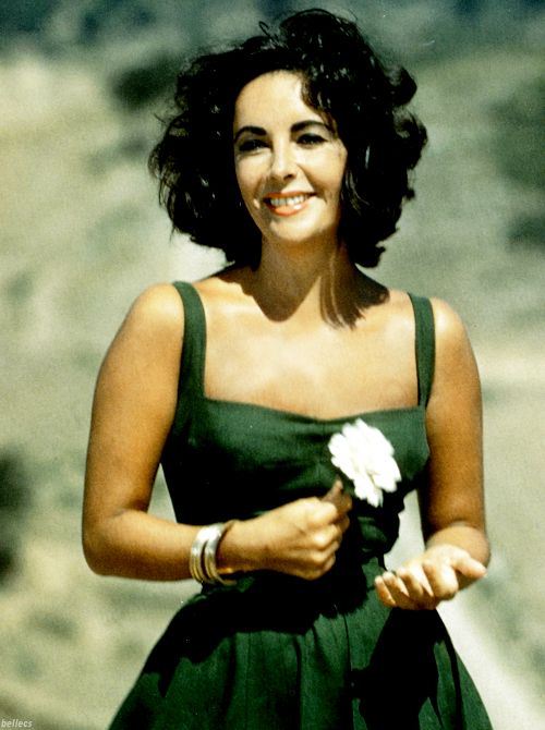 ElizabethTaylor (want the dress-- and while I'm at it, the bod to go in it-- why not reach for the stars?) (pun intended)