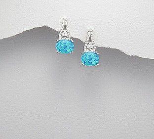 Oorbellen 'Blue Opals'