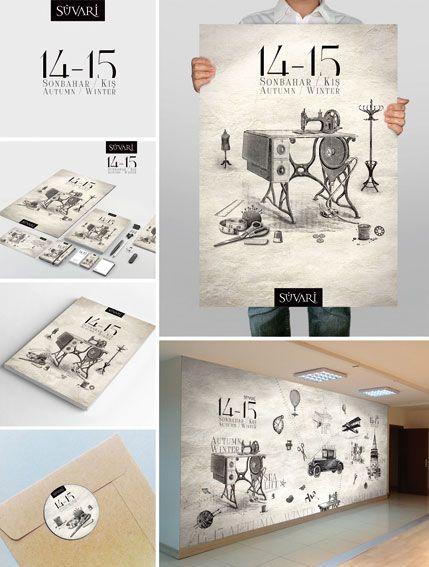 Süvari / showrooms design (Bilal Çınar, Graphic Designer and Illustration Artist / www.bilalcinar.com)
