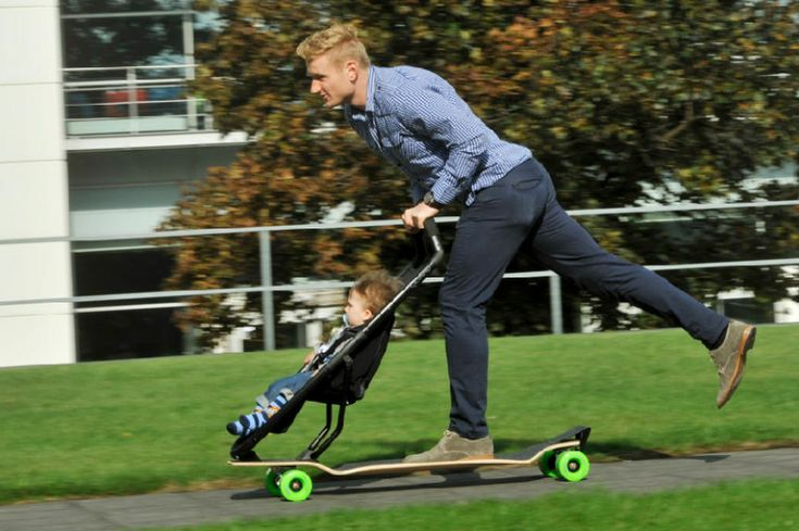 The invention of the day: Be cool and adopt the skate stroller!