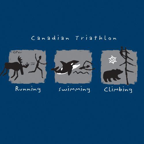 Canadian T-Shirt (Adult) - Canadian Triathlon - $19.95
