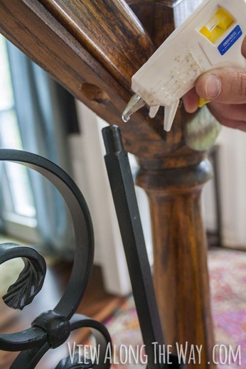 Best How To Install Iron Balusters Using Hot Glue For Iron 400 x 300