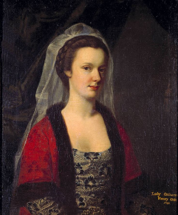 """""""Lady Catherine Henry in Turkish Dress"""", unknown painter, ca. 1762; TC N05397"""