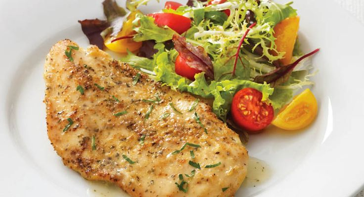 A simple pan sauce of chicken broth and lemon juice for boneless chicken breasts makes this quick and easy recipe perfect for weeknight meals.