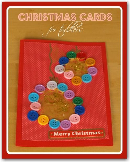 A CUTE and EASY idea for making CHRISTMAS cards with toddlers and young children.