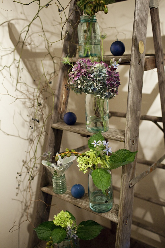 mason jar ladder