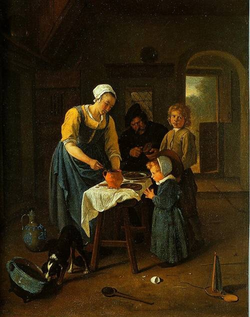 Peasant Family At Meal-Time (Grace Before Meal) 1665 National Gallery in London Jan Steen