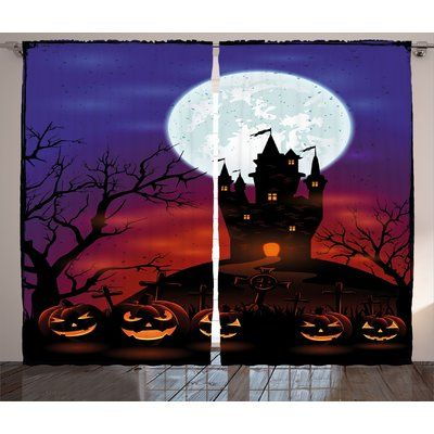 the holiday aisle halloween decorations gothic haunted house castle hill valley night sky october festival theme - Halloween Decoration Stores Near Me
