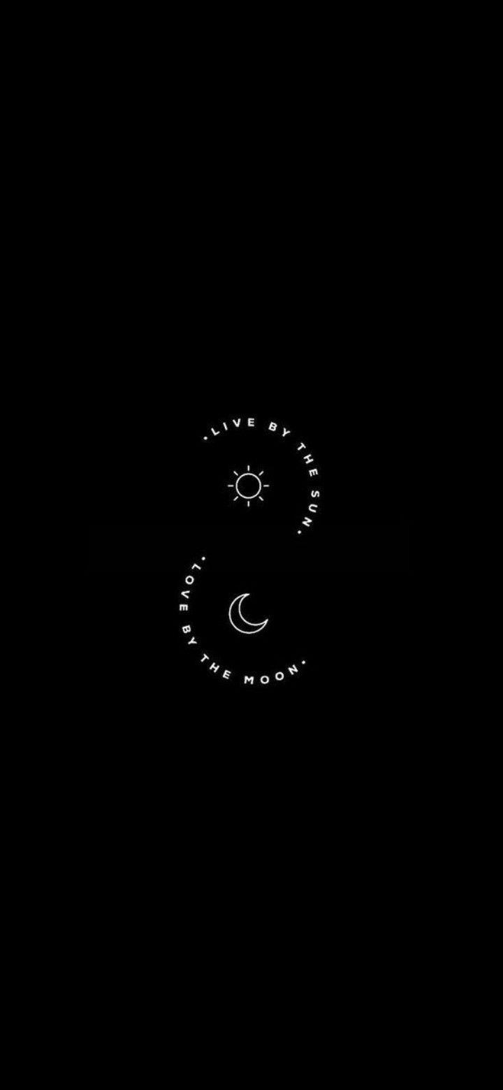 Sun Moon Sun And Moon Tumblr Moon And Stars Wallpaper Cute Black Wallpaper