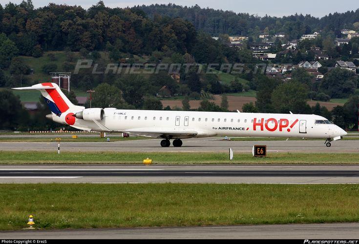 F-HMLE HOP! Canadair CL-600-2E25 Regional Jet CRJ-1000EL photographed at Zurich Kloten (ZRH / LSZH) by ErezS