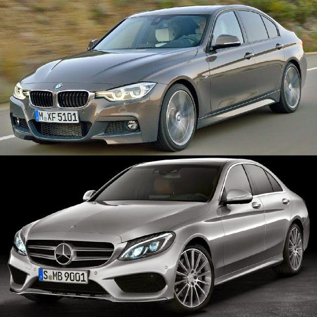 Facelift BMW 3 Series M Sport Pack. vs Mercedes C Class AMG Pack.   #bmw3lci #mercedesC
