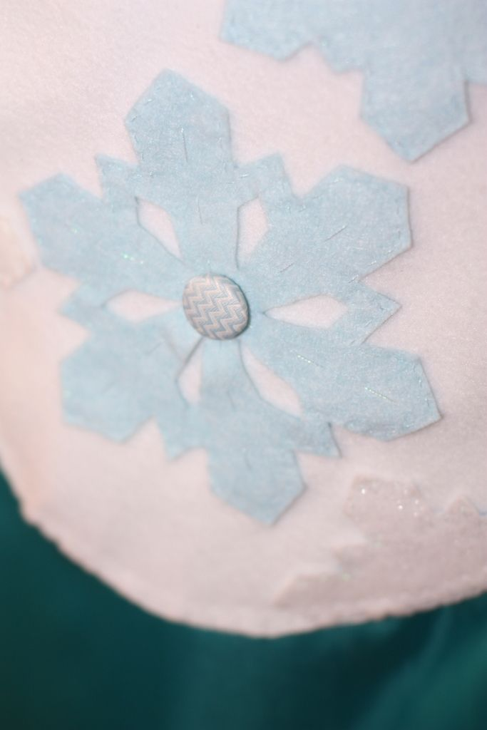 Close up of ice snowflake motif