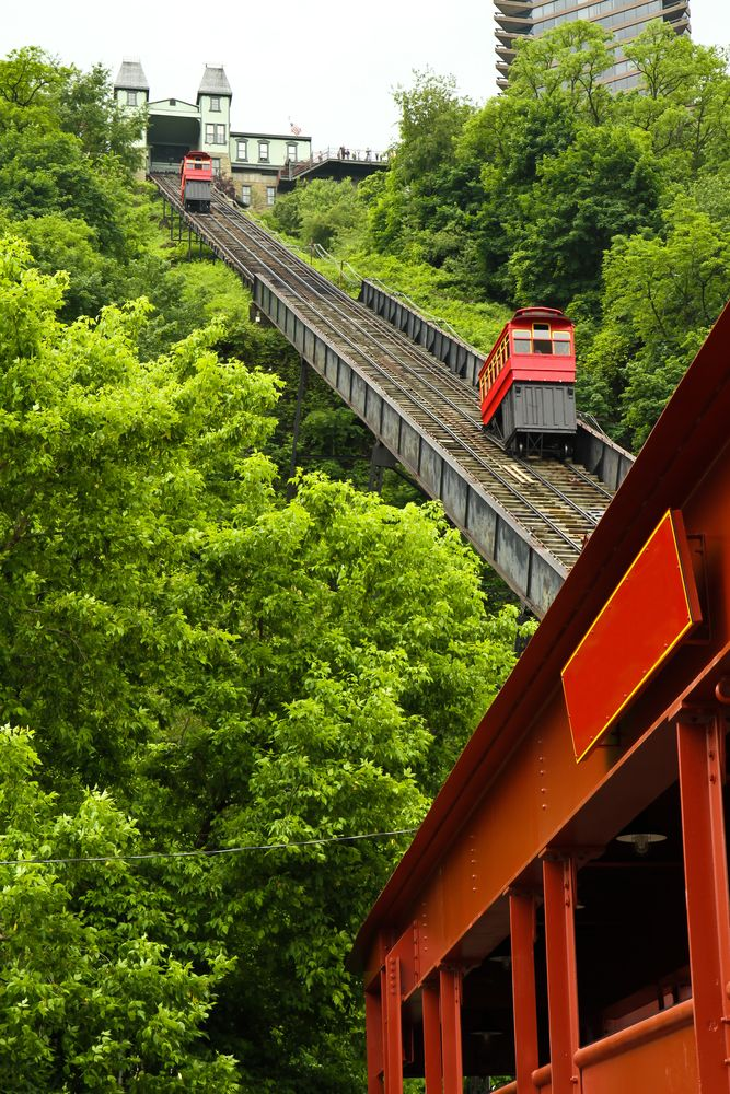 View from the top is amazing, memories of field trips growing up...Duquesne Incline in Pittsburgh, Pennsylvania