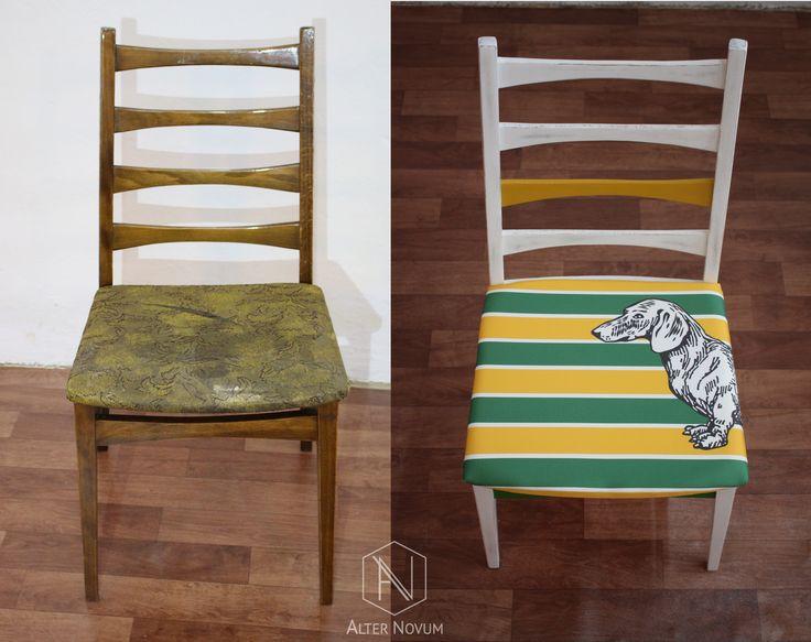 Krzesło vintage odmienione w pracowni Alter Novum /// Vintage chair redesigneg by Alter Novum