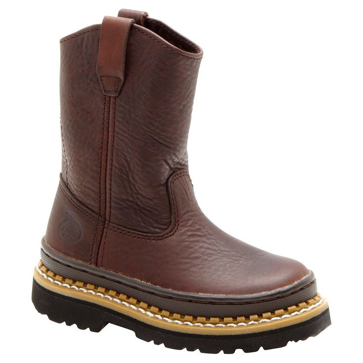 Georgia Boot Boy's Pull On Boots - Brown