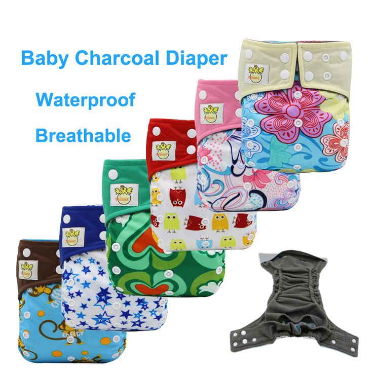 Bamboo Charcoal Diapers for Children Reusable Nappies Washable Cloth Diaper Reusable Nappy Adjustable Waterproof Diaper Cover
