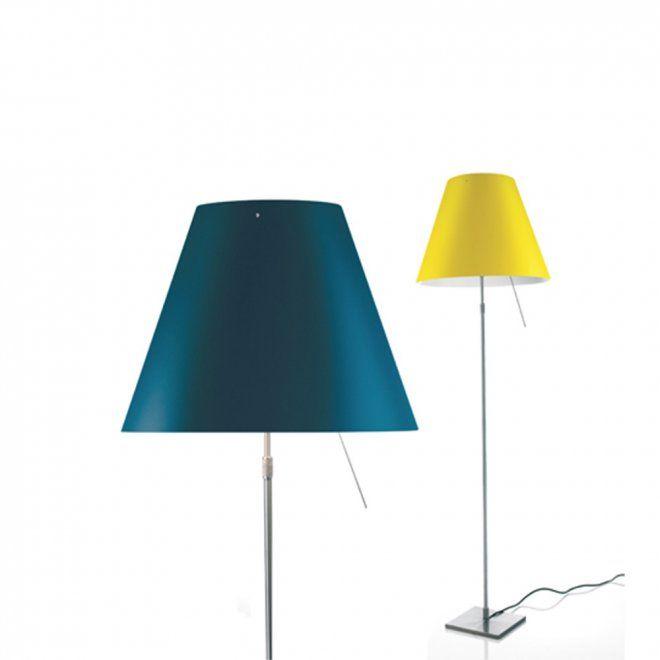 Duo de Lampe Costanza Bleu et Jaune de Luceplan - Marie Claire Maison