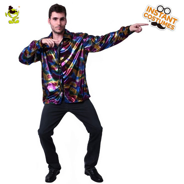 Mens Popular Disco Costume Adult 70s ~80s Funny Halloween Hippie Cosplay Party Fancy Dress With Deluxe Shirt #70s Halloween Costumes   Welcome To Our Store    Why ChooseOur Store?  1) Alice Costumes Shop is an aliexpress online store which provides the best products and service to all customers.  2) Outstanding quality! Factory Price!  3) Welcome wholesalers, distributors, resellers and agent...