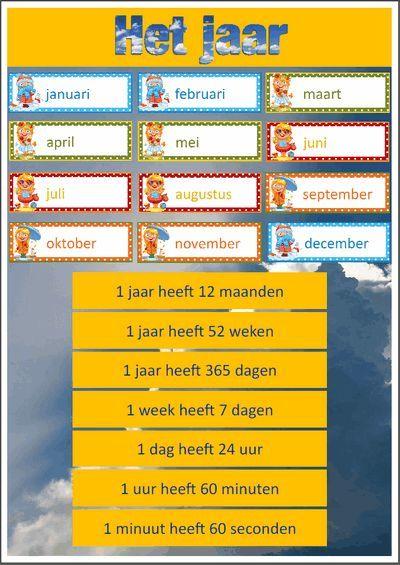 Een heel pakket, - Maandkalender met ophangkaartjes - Jaarweetjes - Seizoenenwiel - Maanden van het jaar met bijbehorende seizoensgebeurtenissen Nederlands pakket. $5,-: