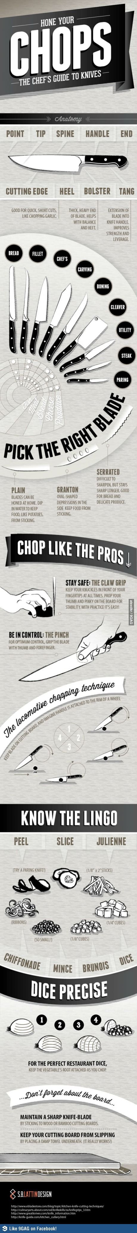 """Culinary Tips. Try out the """"Areo Knife"""" that cuts anything & everything."""