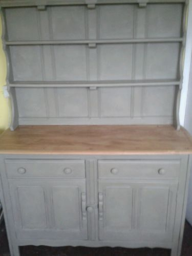 Shabby Chic Vintage Ercol Country Welsh Dresser Painted in Annie Sloan