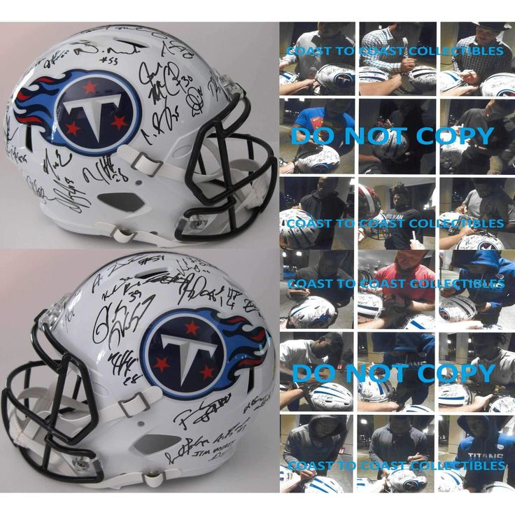 2016 Tennessee Titans, Team, Signed, Autographed, Riddell Full Size Speed Football Helmet, a COA with the Proof Photos of the Titans Players Signing the Helmet Will Be Included