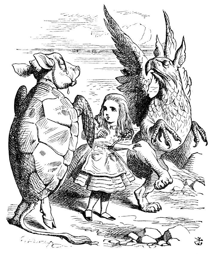 """Alice Dancing with Mock Turtle and Gryphon"" 