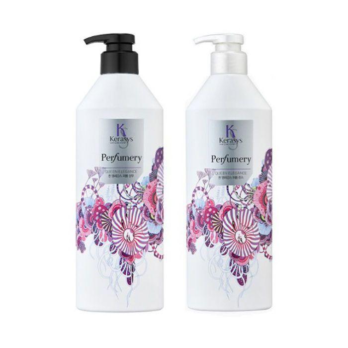 KERASYS Perfumery Shampoo & Conditioner(QUEEN ELEGANCE) 600ml+600ml 2pcs set #KERASYS