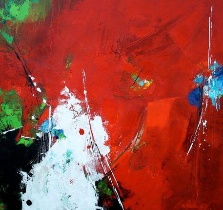 'The power of red' von Claudia Neubauer bei artflakes.com als Poster oder Kunstdruck $6.48