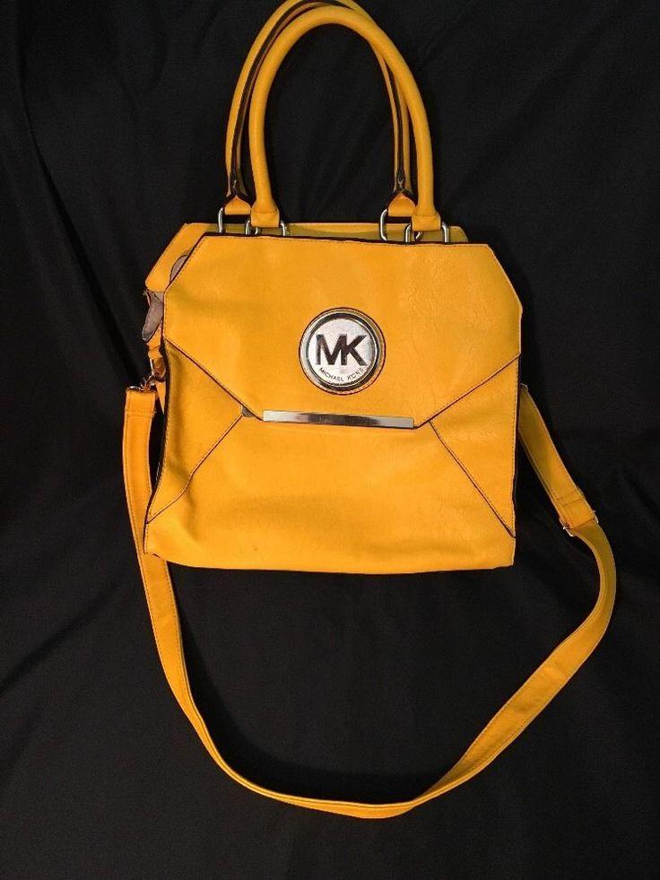 Michael Kors handbags designer shoulder bag yellow color #MichaelKors #ShoulderBag