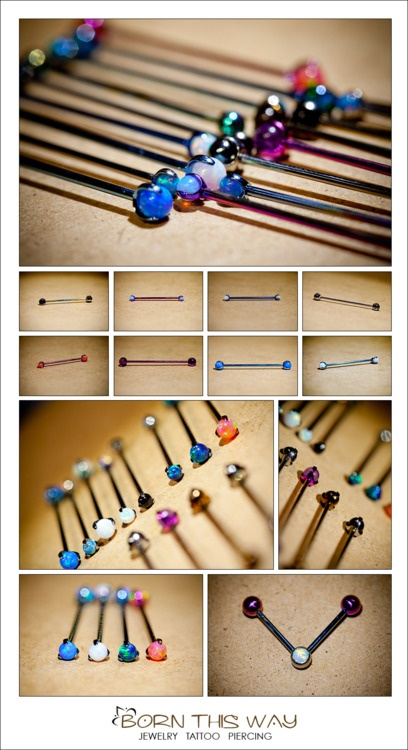 so many awesome barbells to decorate your industrial piercing!