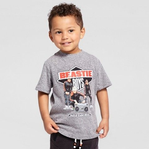 Beastie Boys® Toddler Boys' Solid Gold Short Sleeve T-Shirt - Charcoal Snow