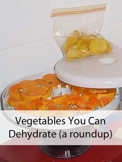 Vegetables you can dehydrate