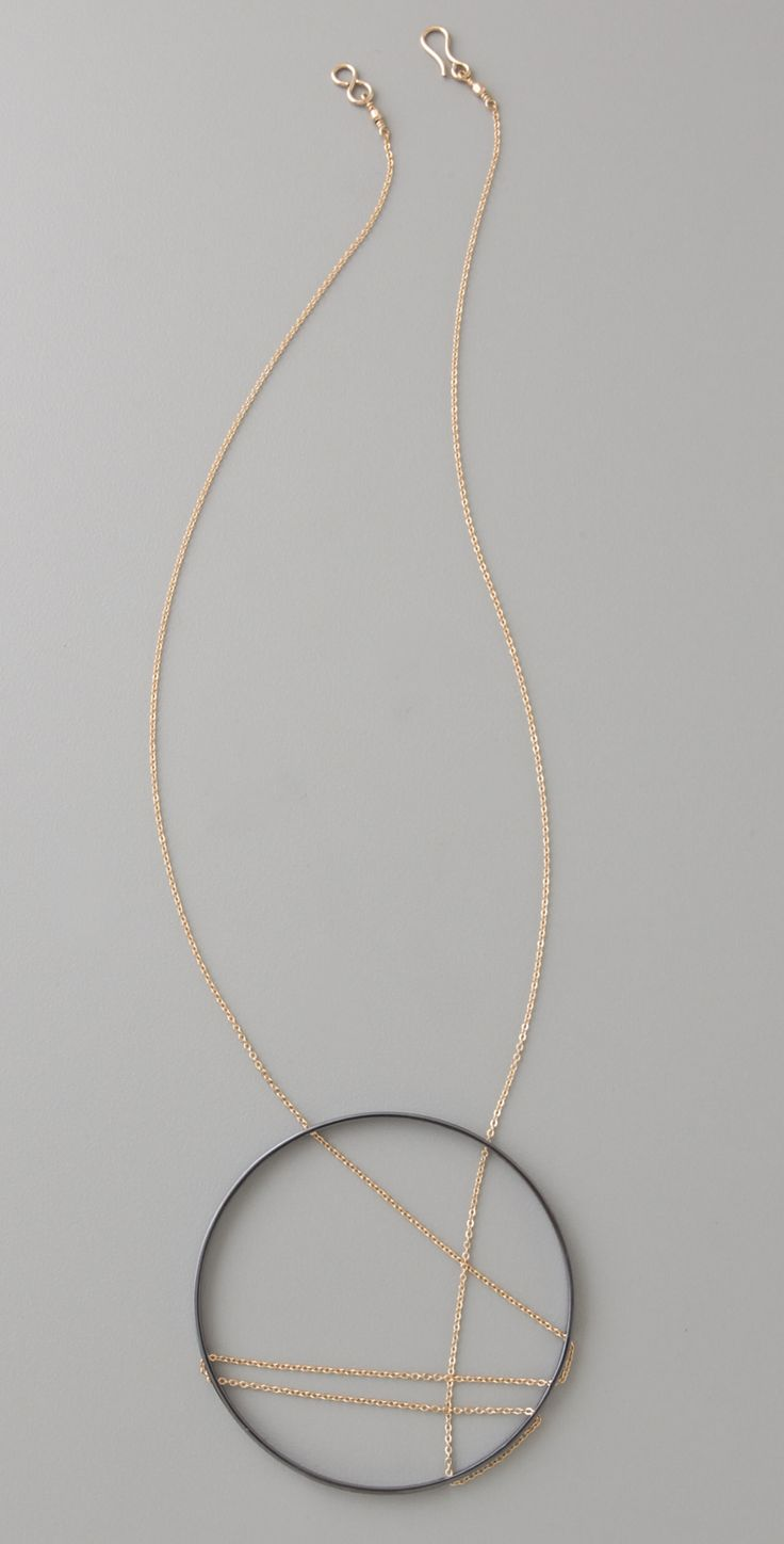 Inner Circle Large Crisscross Necklace