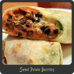Sweet Potato Burritos-Awesome meal for meatless Mondays!