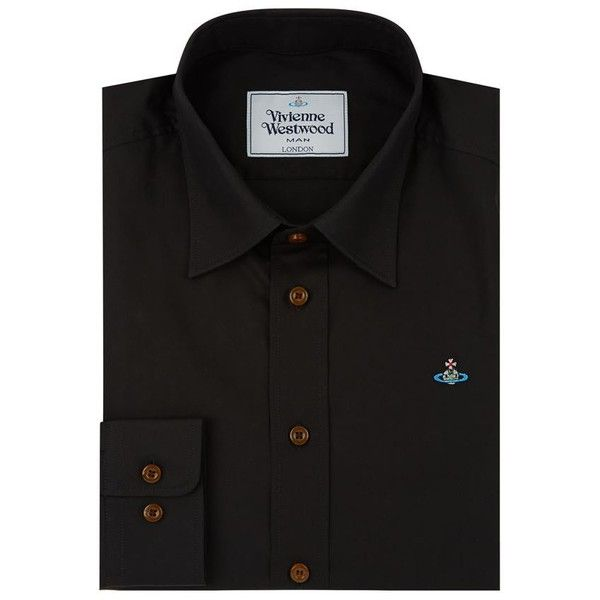 Vivienne Westwood Embroidered Orb Shirt (£180) ❤ liked on Polyvore featuring men's fashion, men's clothing, men's shirts, mens french cuff shirts, mens formal shirts, vivienne westwood mens shirts, mens cotton shirts and vivienne westwood mens clothing