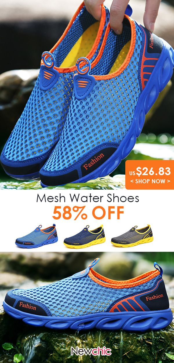 Men Breathable Honeycomb Mesh Casual Sneakers Upst…