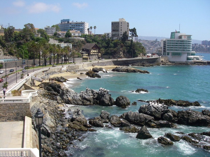 Vina del Mar, Chile.  I remember walking this path after dinner every night!